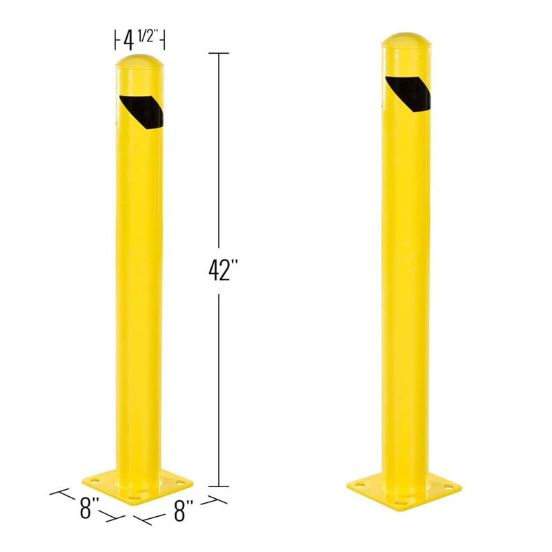 Removable temporary safety steel post road traffic parking barrier bollard