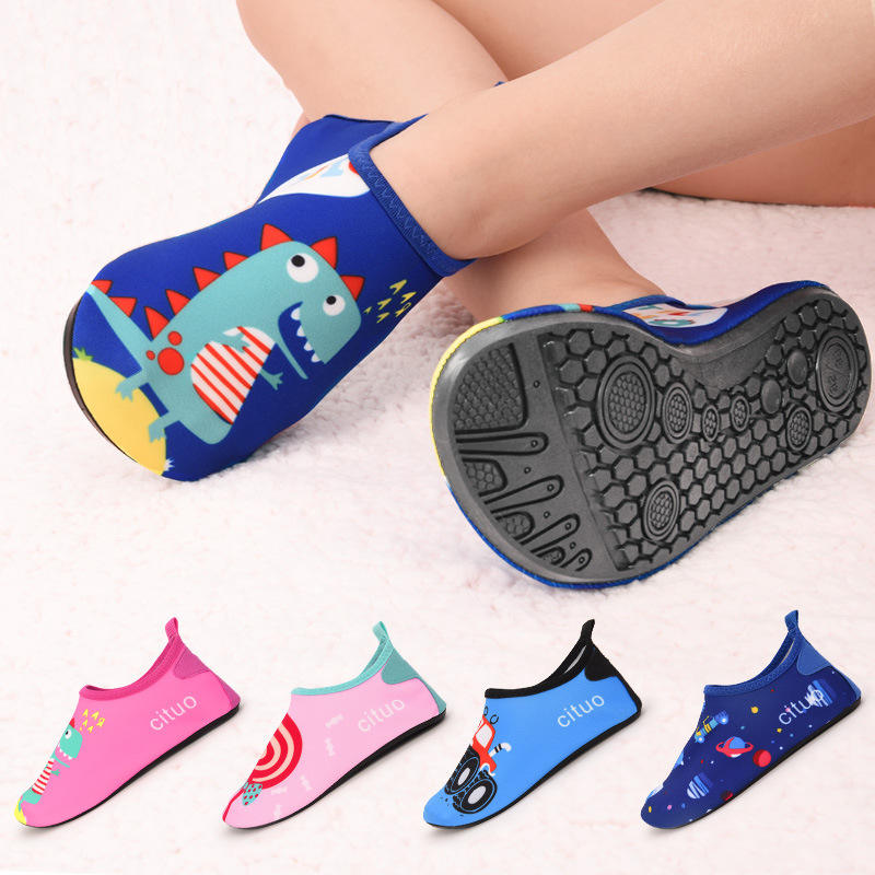 Toddler Kids Swim Water Shoes Quick Dry Non-Slip Water Skin Barefoot Sports Shoes Beach Socks for Boys Girls M91101