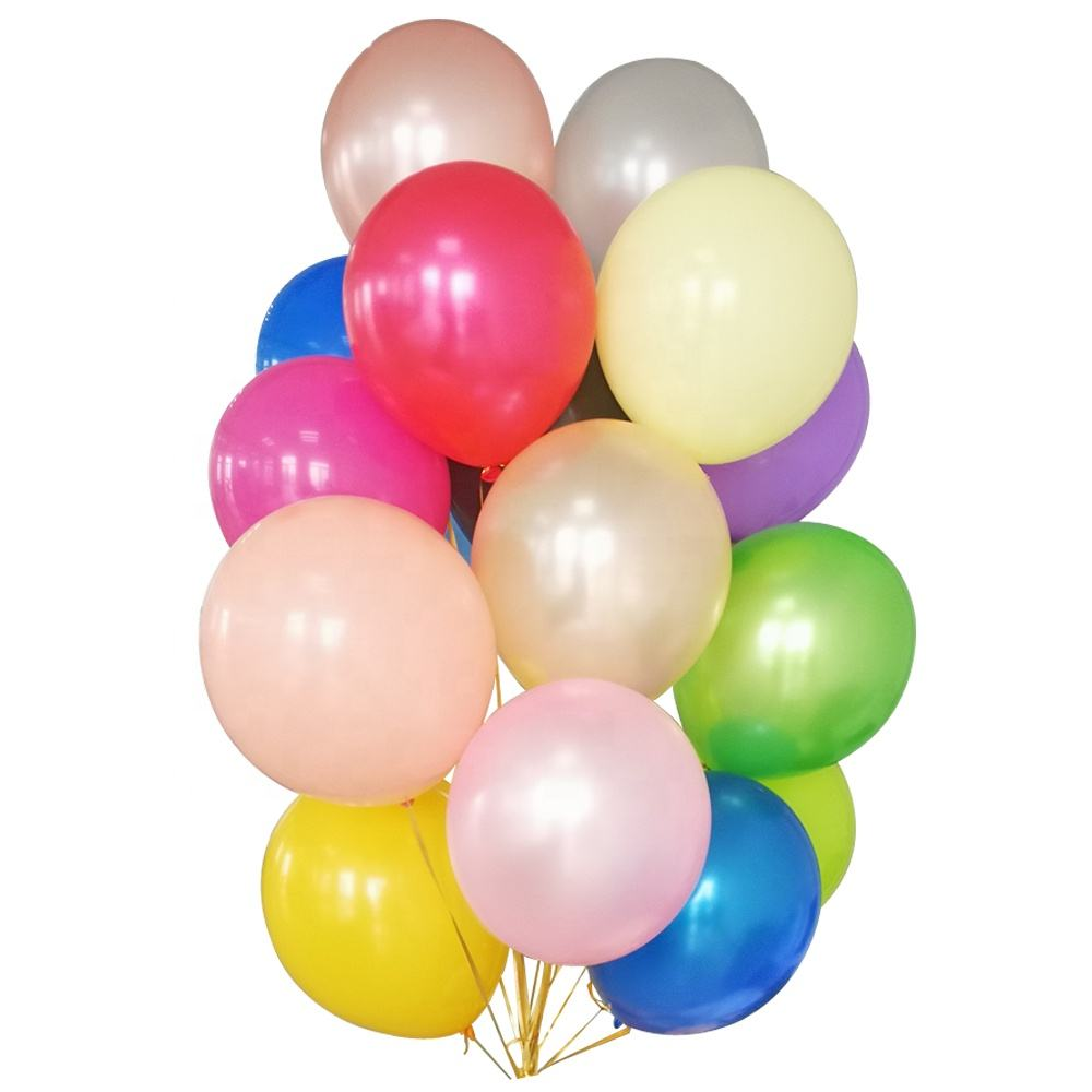 Großhandel Happy Birthday Party Dekoration Balon Globos Set Metallic Latex Biologisch Abbaubar Helium Ballon Luftballons Geschenk