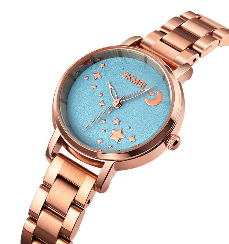 skmei 1708 steel lady watches 3atm ladies watch stylish shooting star girls watch