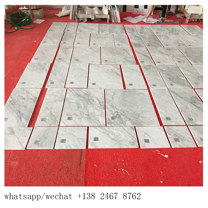 italian carrara white Factory price fashion design customized marble wall and floor cheap with carrara white