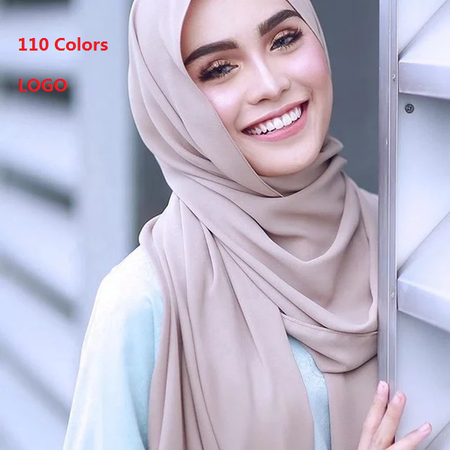 LM 2020 Wholesale factory supplier ladies muslim chiffon hijab scarf women hijab women scarves