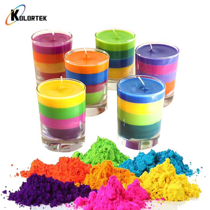 Multi-colored Fluorescent Dyes Color Neon Pigments for Wax Candle Making