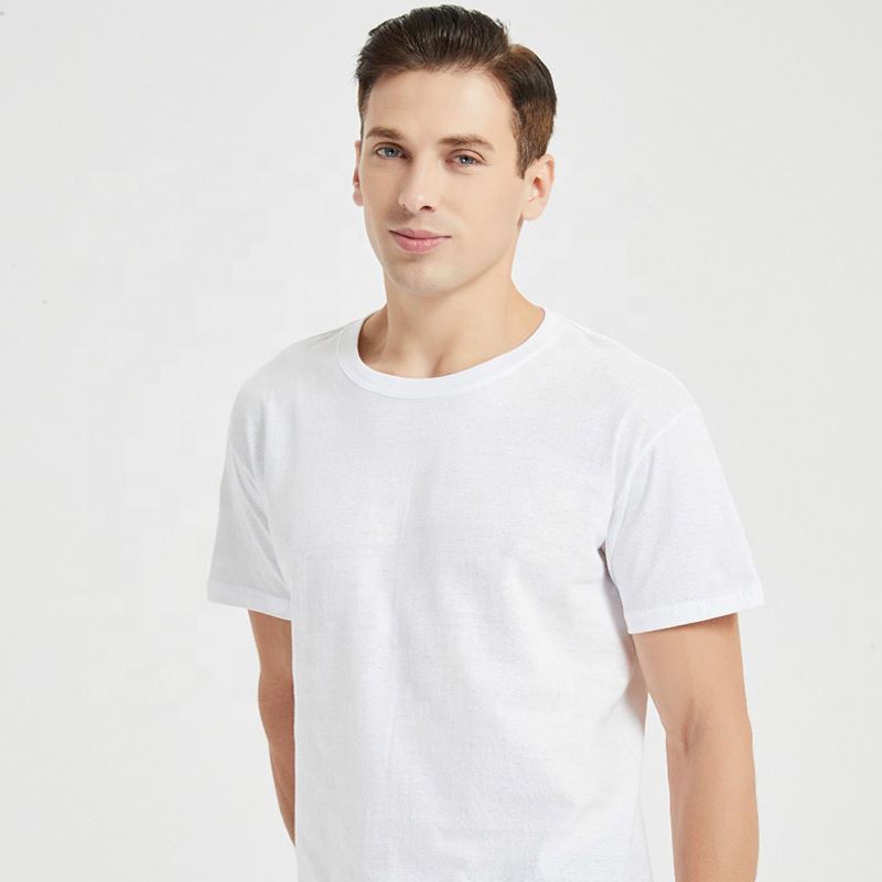 100% cotton 150gsm 160gsm Fine cotton short sleeve S to 5XL custom design oem logo men's plain blank white cotton t shirts