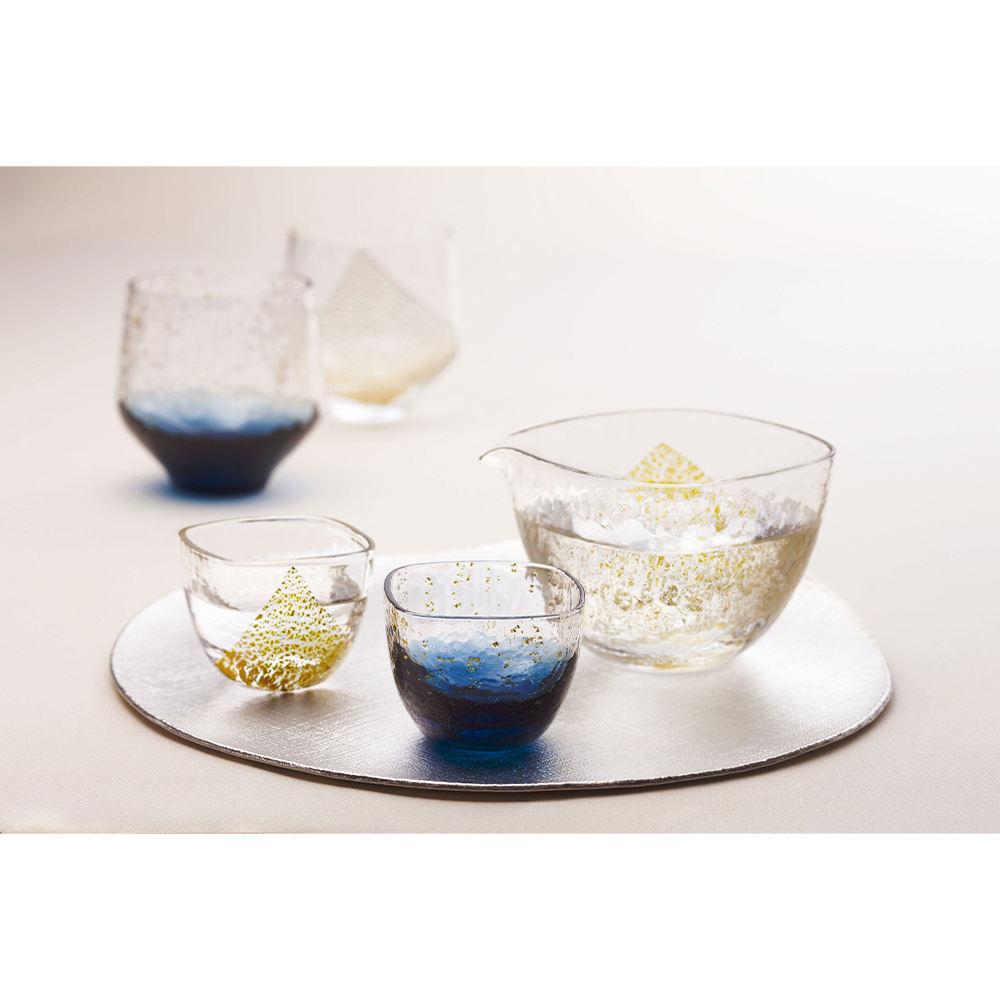 Handblown With Traditional Skill Of Master Craftsmen Glass Cup Small From Japan.