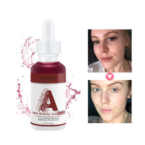 Private Label Aha 30% And Bha 2% Skin Whitening Anti Acne Facial Serum Exfoliating Peeling Solution Face Serum