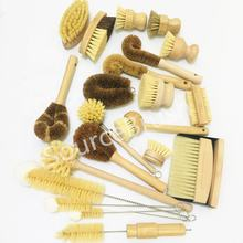 House Use Long Tampico Fiber Wooden Kitchen Dish Cleaning Coconut Fibre Brush