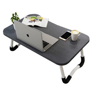 MDF portable folding laptop table wood folding computer desk on the bed