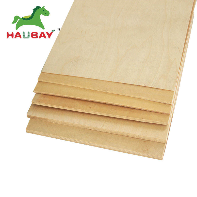 Fábrica de alta calidad peso 12mm 3mm 20mm impermeable de madera contrachapada de abedul