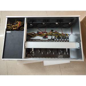 mining machine 8 GPU miner case ETH ZEC bitcoin 12gpu 6gpu graphic cards support rx5700 5800 video cards