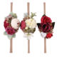 High Quality Baby Hair Accessories Various Flower Elastic Handmade Hairband For Kids