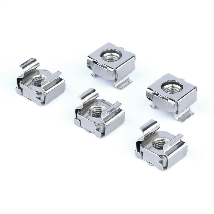 In Stock Standard N5 M6 M8 M10 Nickle Plated Steel Weld Cage Nuts