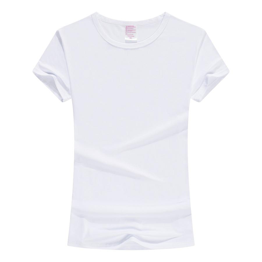 Solf Touch Sublimation Blanks White Modal Polyester Women Sublimation t shirt for Sublimation Printing in Stock