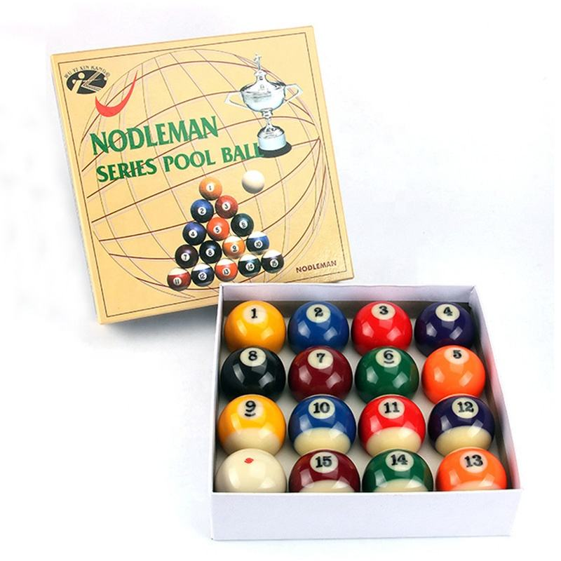 Big Number 57.2mm Diameter Nine-Ball Pool Table BALL, Golden Cup 2-1/4inch Billiard Ball set 16x