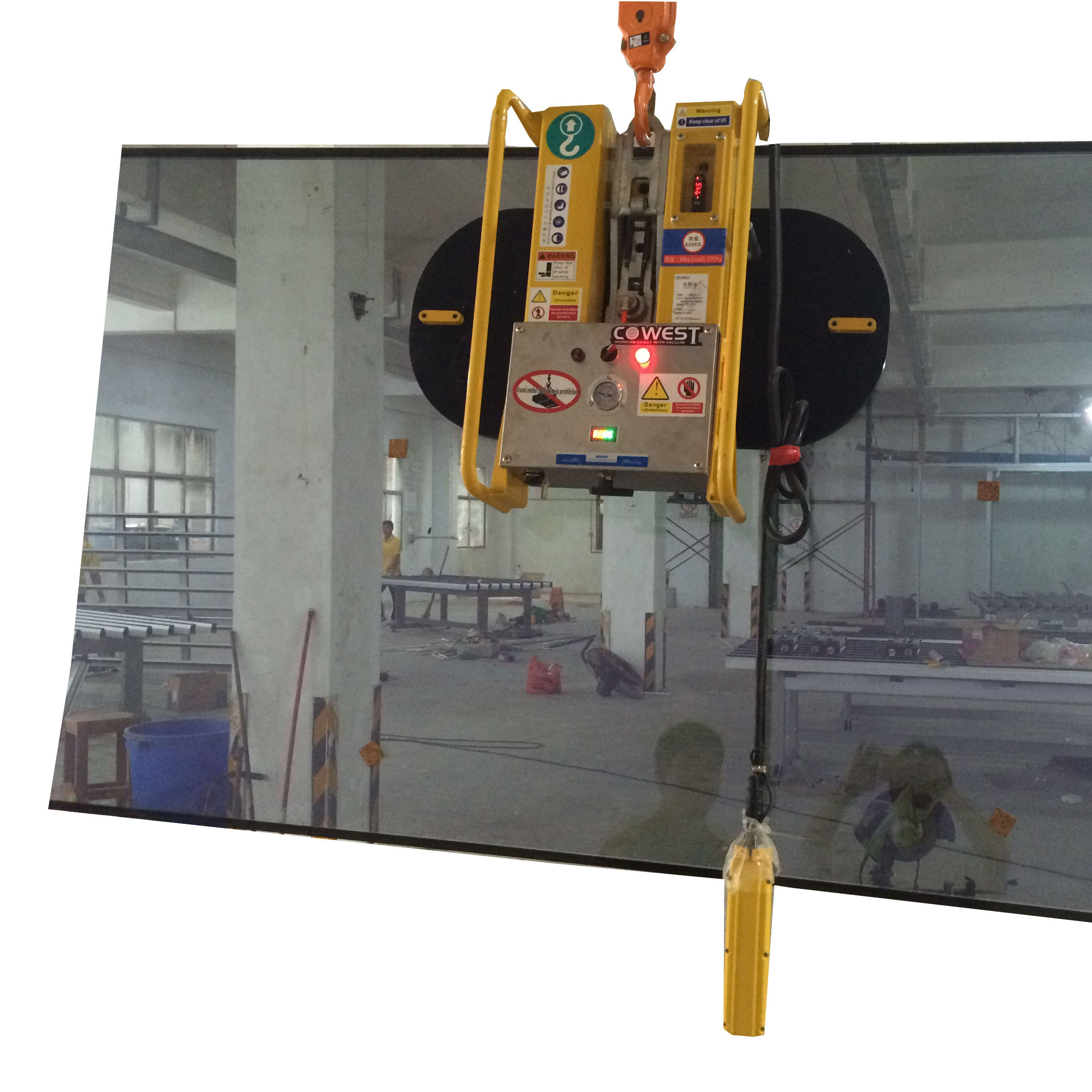 vacuum lifter for glass glazing