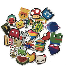 25pc Cartoon Game Pixel Style PVC Waterproof Sticker For Phone Ipad Laptop Luggage Skateboard Wall Guitar Stickers