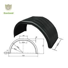 Customized plastic Single Axle Fender Plastic Mudguard for Truck