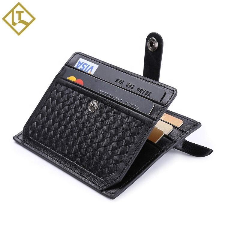 New Rfid Blocking Business Card Holder Leather Credit Card Holder Wallet Promotional Best Gift Items