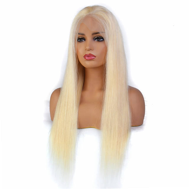 Hot selling 613 Blonde Straight 13X6 Frontal 100% Human Hair lace wig