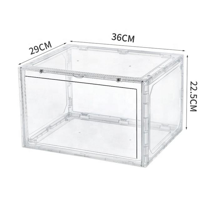 High Quality Clear Transparent Shoe Storage Box / Foldable Shoe Case / Plastic Shoe Storage Boxes