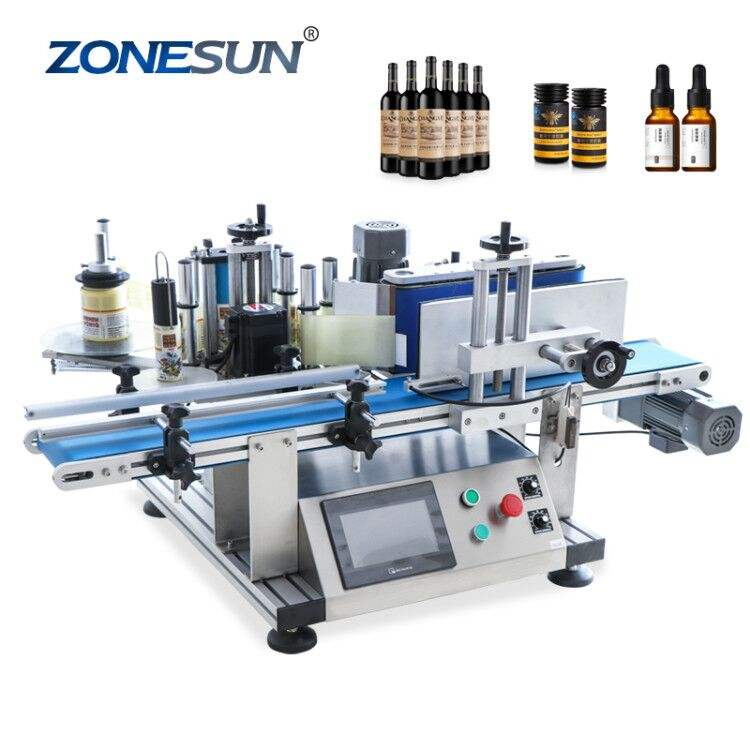 ZONESUN ZS-TB150 Vial Glass Jar Tabletop Can Sticker Wine Water Bottle Automatic Round Bottle Labeling Machine For Round Bottles