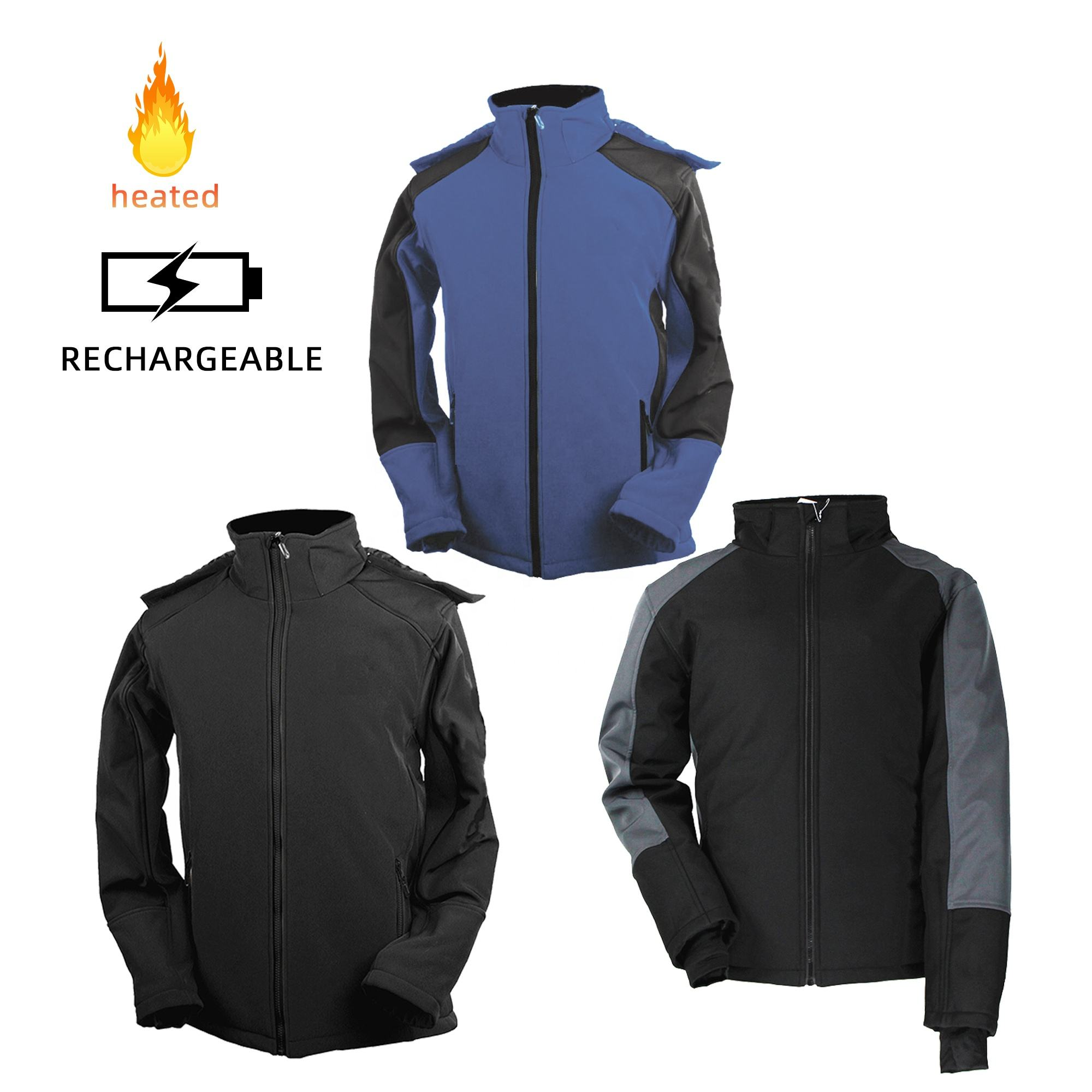 USB 5V10000mAh Unisex Far-infrared Heated Jacket Outdoor electric heated clothing