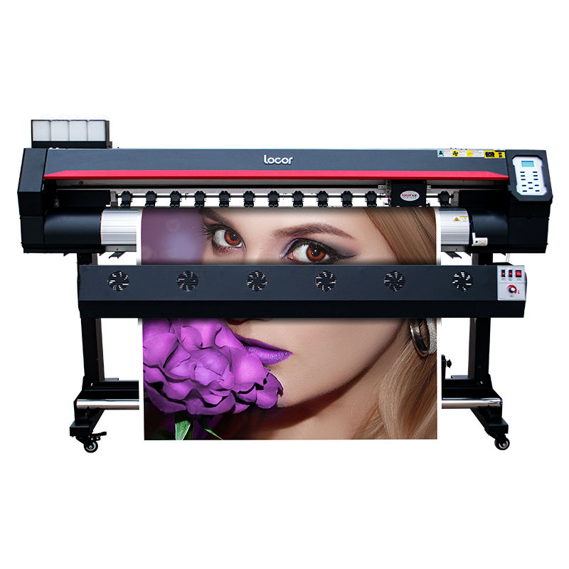 LOCOR 1.6m 1.8m large format eco solvent printer and cutter plotter flex banner vinyl printing shop machines