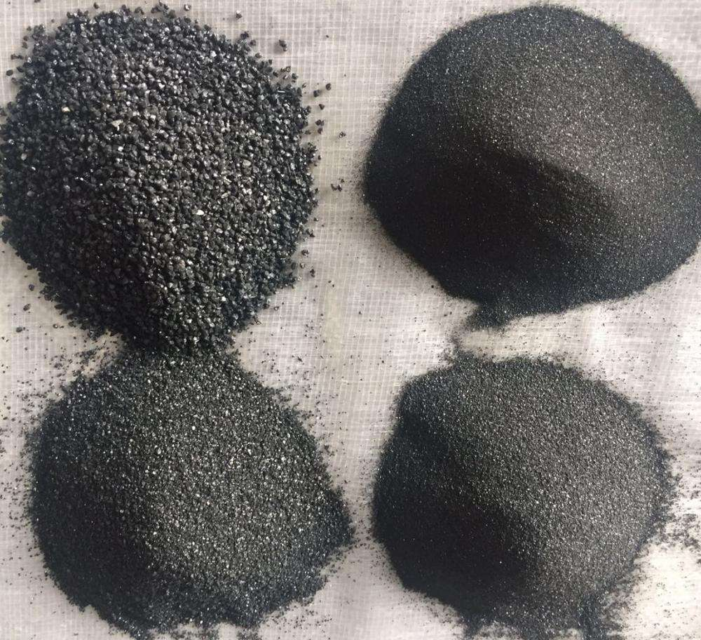 Black quartz pea gravel