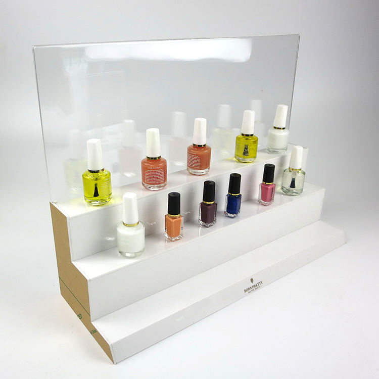 Factory custom ontwerp make product showcase acryl cosmetische display stand
