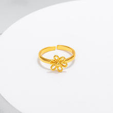 16506 Xuping flower style gold color ring, copper alloy custom jewelry baby finger ring
