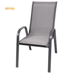Outdoor Hot-sale Full Steel Stacking Garden Chairs