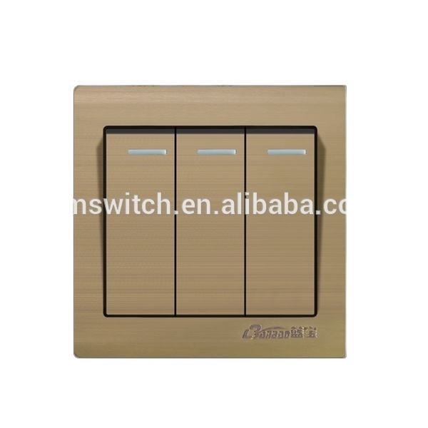 new model aluminium electric switch champagne electric switch
