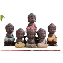 Small cute Ceramic craft baby Small little ceramic Buddha Statue for sale budda porcelain pottery for room