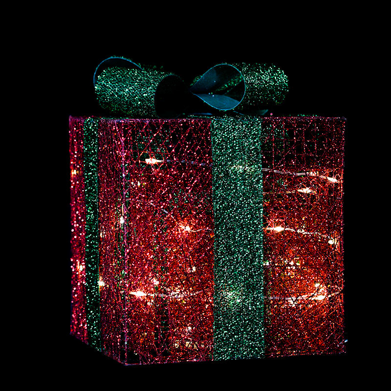 Evermore christmas PVC mesh cover gift box motif light for outdoor and indoor use