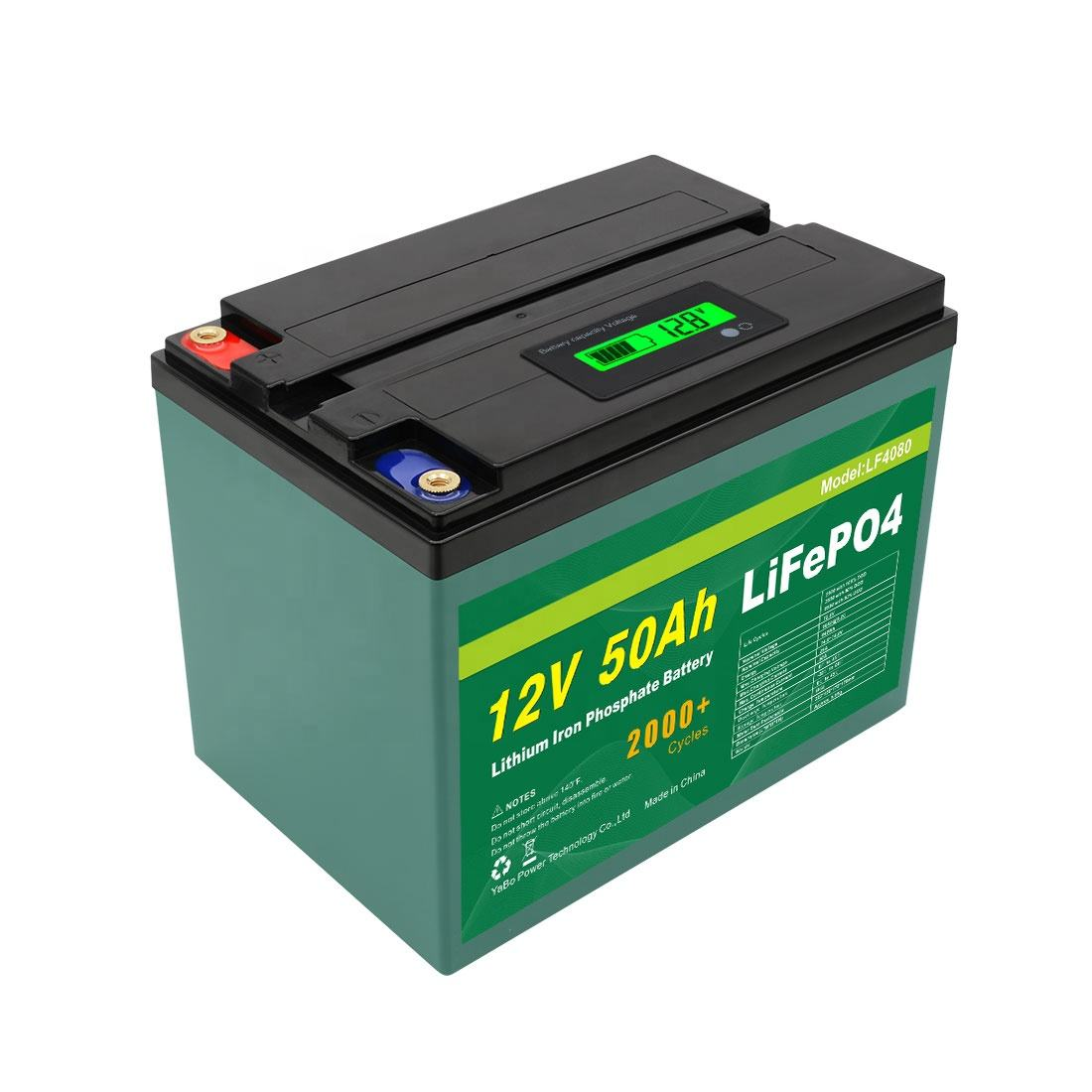 Customized Rechargeable Lithium Lifepo4 Liion Li Ion 6V 24V 48V Solar 12v 50Ah Lifepo4 Battery Pack