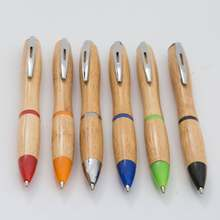 Custom Logo Bamboo Pen Erasable Ballpoint Pen Scented Ink Ballpoint Pen