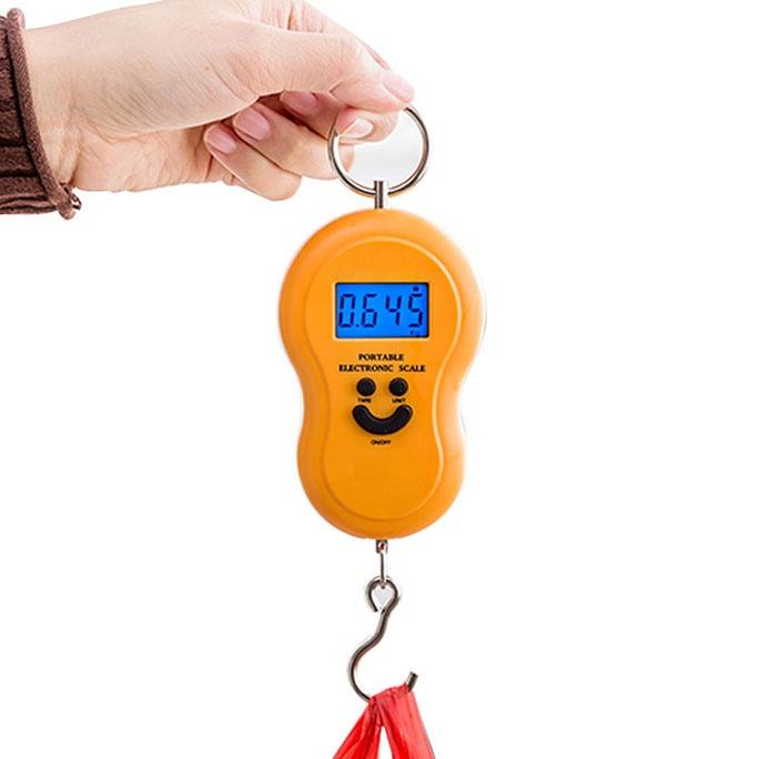 Mini Tangan Gantung Portable Scale 50Kg, <span class=keywords><strong>Skala</strong></span> <span class=keywords><strong>Elektronik</strong></span> Berat Bagasi Digital Weighing Scale