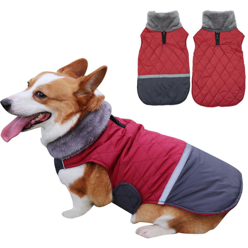 Wholesale Amazon hot sell dog clothes Can be worn on both sides small dog clothes High collar waterproof dog clothing
