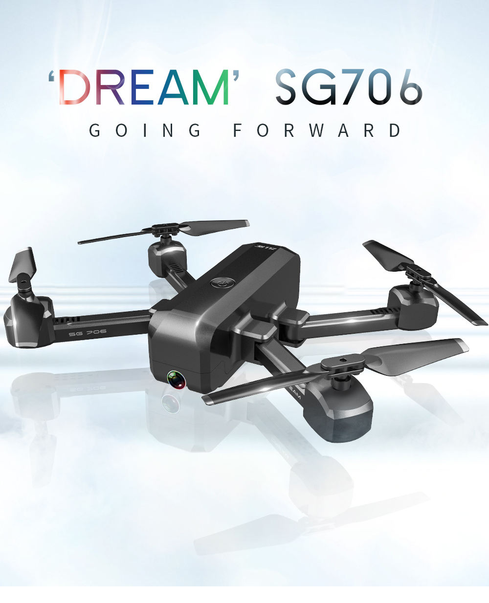 China Factory Outlet SG706 4K HD Aerial Camera Smart follow Rc professional drone with camera R8 radio + control + toy