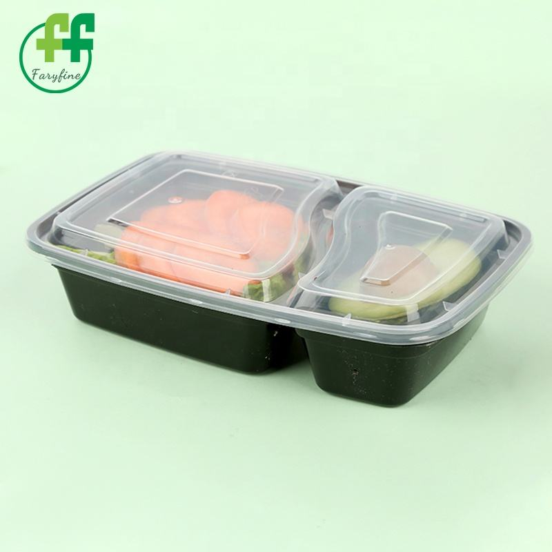 Take out food grade plastic boxes disposable plastic togo 3 compartment bento lunch box pp material pakaging food box plastic