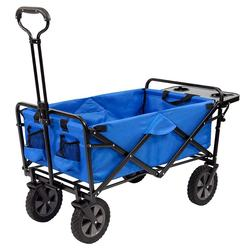 Collapsible Folding Outdoor Utility Wagon with Table and Cup Holders camp wagon