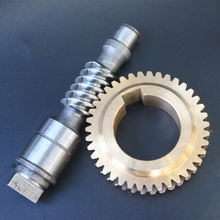 Manufacture small custom machining 303 304 316 stainless steel bronze telescope worm gear