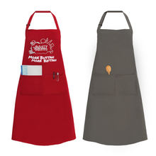 Customized Printed Cotton Polyester Fabric Adjustable Garden Apron Pocket Cooking Work Kitchen Apron delantal