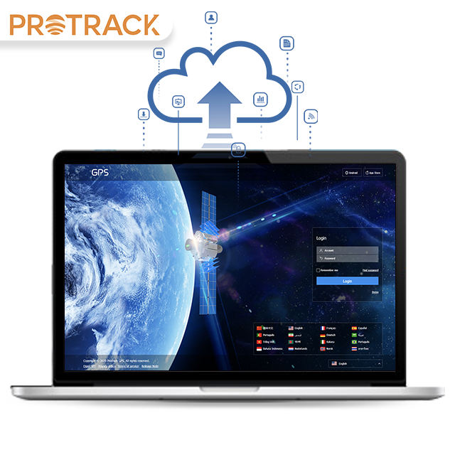 gps tracking software platform Protrack365 IOS&Android APP Tracking car monitoring anti-theft Disable engine via sms/gprs
