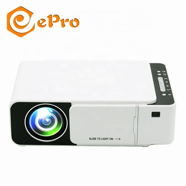 T5 LED Projector 1200 Lumens Built-in Speaker Audio Smart Android WIFI Projector 1080P HD Video Digital Home Theatre Movie Media