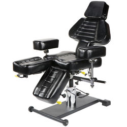 Removable and adjustable face cradle Professional hydraulic tattoo chair