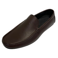 Men's Soft Rubber Sole Square Toe Sip On Flats Plus Size Moccasin Leather Suede Penny Loafer Shoes