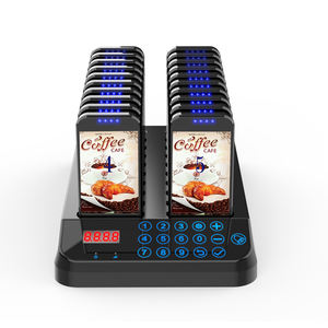 Artom Wireless guest coaster pager paging system for fast food restaurant cafe queue management catering
