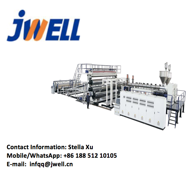 JWELL สูง Geomembrane กันน้ำแผ่น Extrusion Line/extruding เครื่อง