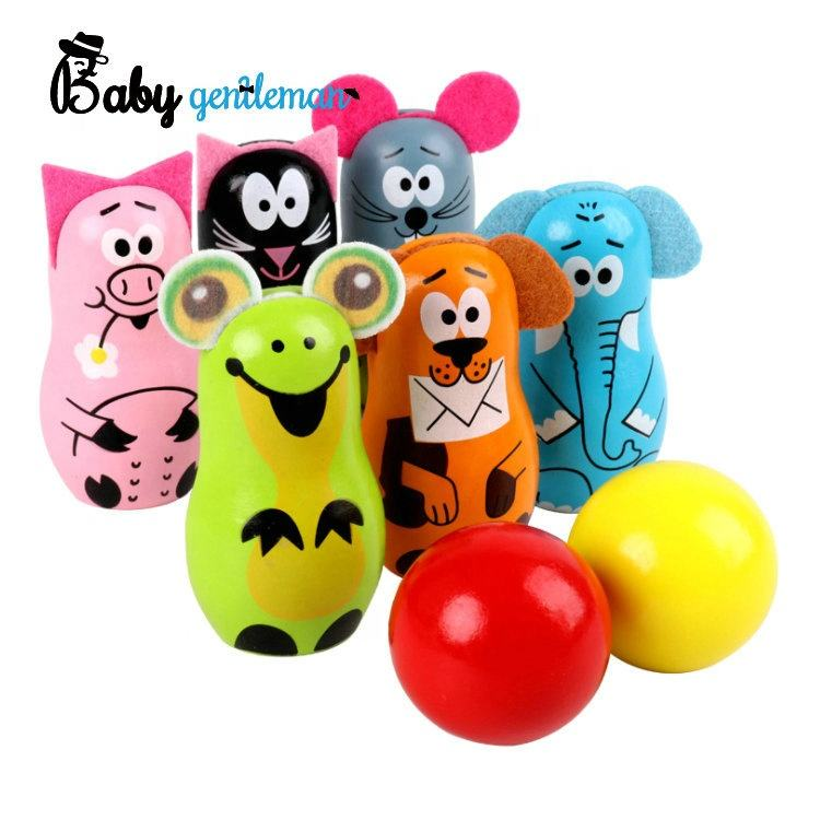 2020 most popular funny wooden kids bowling set for wholesale Z01363A